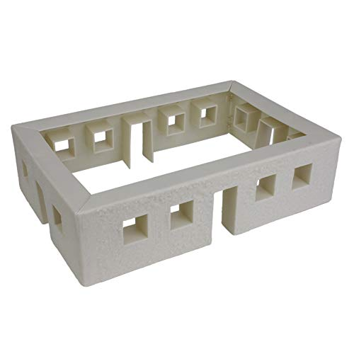 BMC WW2 Bunker Walls - Plastic Army Men Playset Accessory