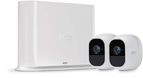 Arlo Pro 2 | Caméra de surveillance 100% Sans Fils - Pack de 2, batteries rechargeables, Alarme 100 dB, Son bidirectionnel, 1080p Jour et Nuit, Étanche IP65 Intérieur/Extérieur  (VMS4230P)