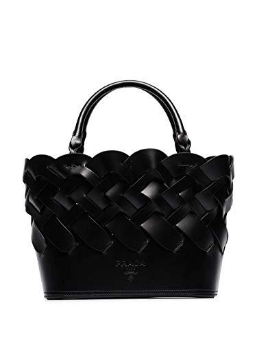 Prada Luxury Fashion Damen 1BG317VOOO2DI4F0002 Schwarz Leder Handtaschen | Frühling Sommer 20