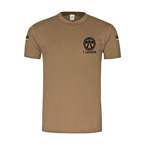 Copytec BW Tropen 1 Luftwaffensicherungsstaffel Objektschutz Barett Abzeichen #32026, Größe:L, Farbe:Khaki