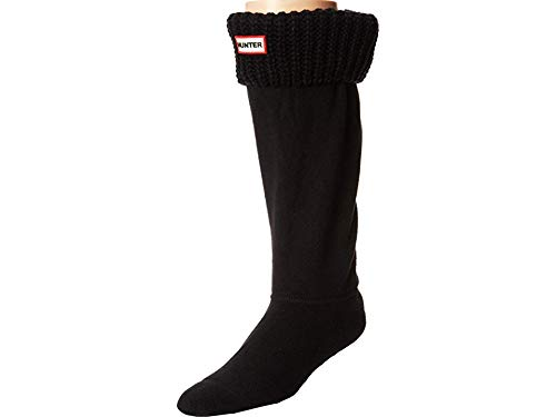 Hunter Negro Original Half Cardigan Stitch Boot Calcetines-