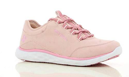 Oxypas 'Patricia' Leichte, bequeme Profi-Schuhe mit Memory-Schaumstoff-Einlegesohle, rutschfeste SRC und antistatische ESD (Größe 5,5 UK, Pink)