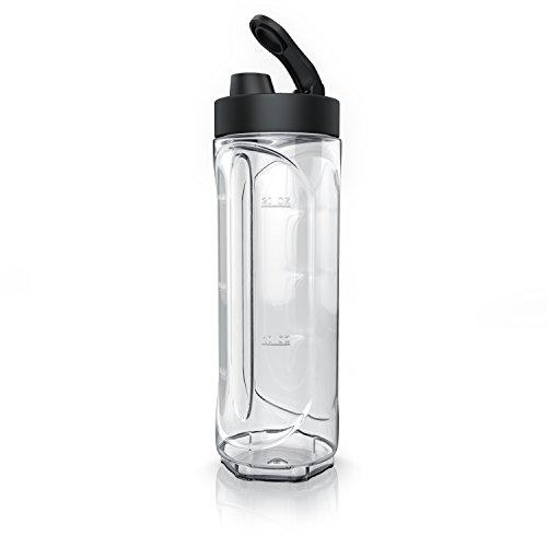 Arendo - Botella de 600 ml Smoothies Recipiente para líquidos - para Arendo Smoothiemaker Mix y Go - Compatible con mezcladores WMF AEG AmazonBasics - 600 ml - No BPA