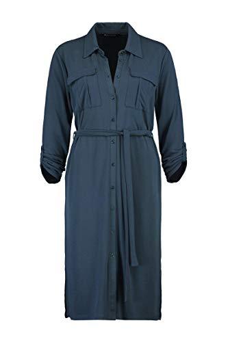Expresso Ceyda Damen dunkelgrünes Kleid mit Einer Länge-L-Dunkelblau