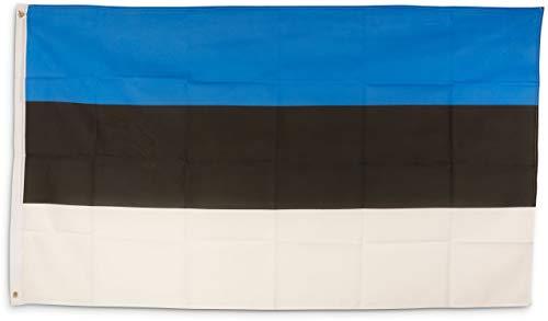 SCAMODA Bundes- und Länderflagge aus wetterfestem Material mit Metallösen (Estland) 150x90cm