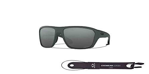 Split Shot OO9416 941602 64MM Matte Carbon/Prizm Black Rectangle Sunglasses for Men +BUNDLE with Oakley Accessory Leash Kit