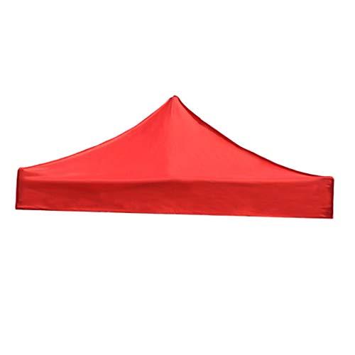 Baoblaze Remplacement Toil Toit de Tonnelle Imperméable Auvent Bâche Tente de Camping - Rouge 3x3M, Gros
