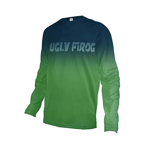 Uglyfrog Bike Wear Country Code Manica Corta Magliette Uomo MTB/Downhill/Motorcycle Estate Cycling Jersey Mountain Bike Abbigliamento