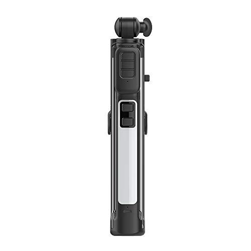 NBWS Palo de Selfie portátil, trípode inalámbrico Bluetooth Mando a Distancia, teléfono móvil Auto Temporizador, luz de Cara multifunción integrada, rotación de 360 °