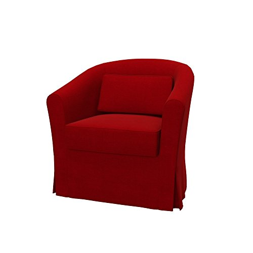 Soferia Bezug fur IKEA EKTORP TULLSTA Sessel, Stoff Elegance Red