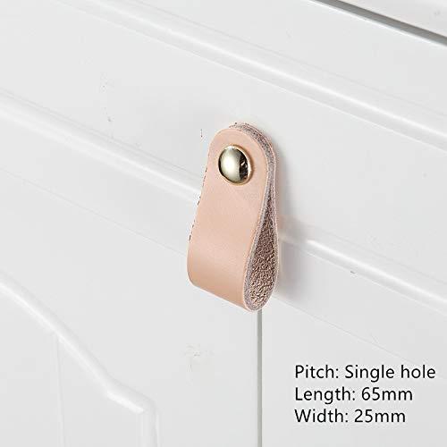 wkd-thvb handgemaakte lederen Pull handvat zachte minimalistische deur kast lade keuken kast dressoir knoppen meubilair hardware