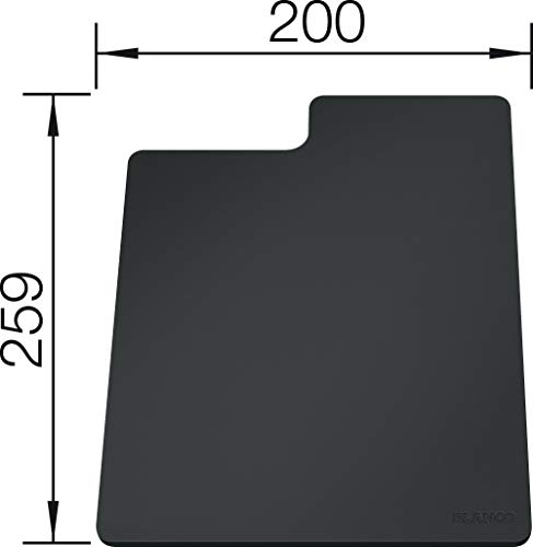 BLANCO 235900 SITY Kunststoffschneidbrett, grau