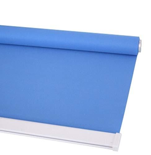 dusg Estores Collection Estor Enrollable Liso Persianas Punch Pull sección de Perlas Media Sombra Azul Claro 80 × 200CM