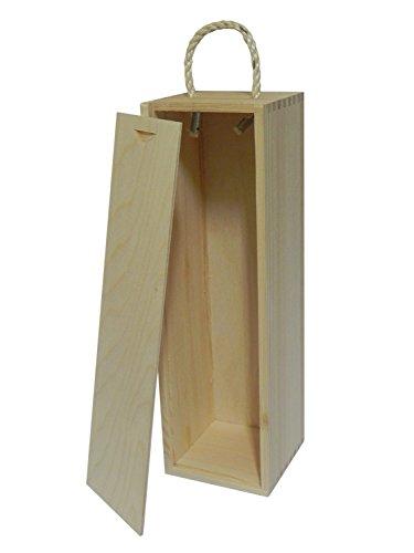 Caja de madera para vino – caja de regalo para botella decoupage manualidades madera de pino