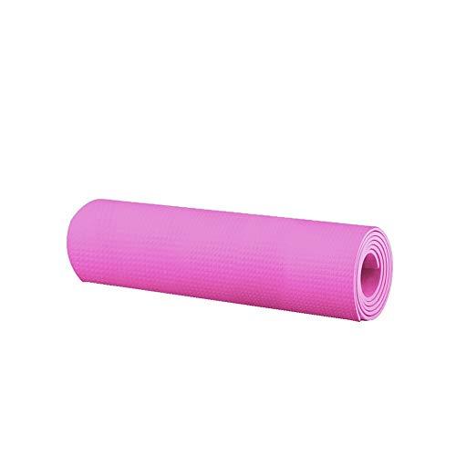 Andouy Pilatesmatte, Gymnastikmatte, Yogamatten, Hautfreundliche Fitnessmatte, Phthalatfrei, 173X55X0.4CM, Yoga Matte in 7 unterschiedlichen Farben(173X55X0.4CM.Pink)