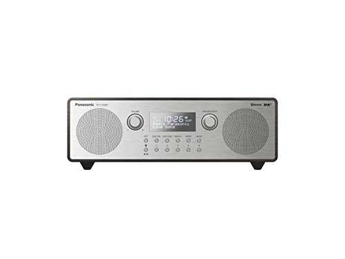Panasonic RF-D100BTEGT Digitalradio im Retro-Design (Stereo Klang, DAB+, UKW Tuner, Netz- und Batteriebetrieb, Bluetooth, AUX) Braun/Silber