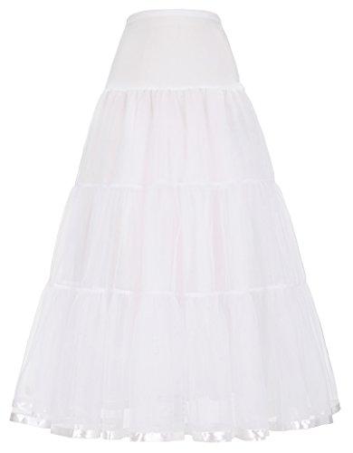 GRACE KARIN underskirt women rockabilly petticoat reifrock für brautkleid unterrock XL CL421-2