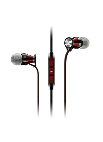 Sennheiser Momentum In Ear - Auriculares con cable para móvil in-ear (control remoto integrado, para Iphone/Ipod/Ipad), color negro y rojo