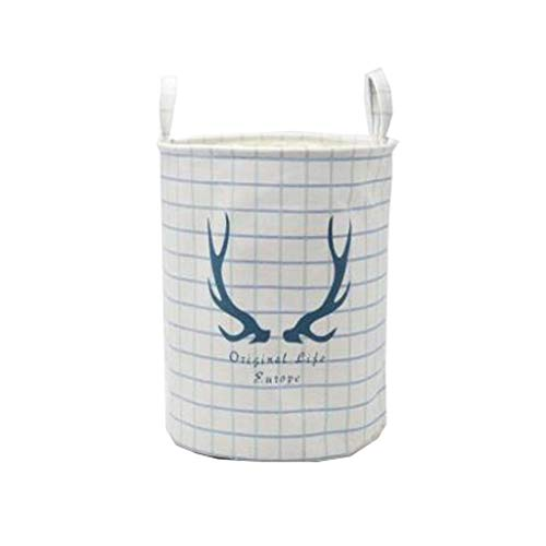 Laundry Baskets Große Wäschekörbe Faltbare wasserdichte Baumwolle Leinen Faltbare Wäschehammer Haushalt Organizer Körbe mit Griffen für Schlafzimmer Lagerung Baby...