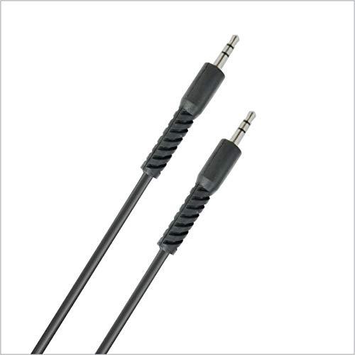 Portronics KONNECT AUX4 1.5 Meter Long 3.5mm AUX Cable (Black)