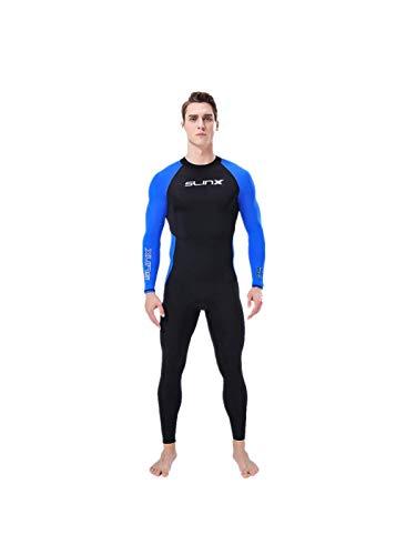 AIni Herren Neoprenanzug, Wetsuit Ganzkörperanzug Super Stretch Tauchanzug Schwimmen Surf Schnorcheln Wetsuit Schwimmen Surfanzug Surfen Tauchen Sport Badeanzug(S,Blau)