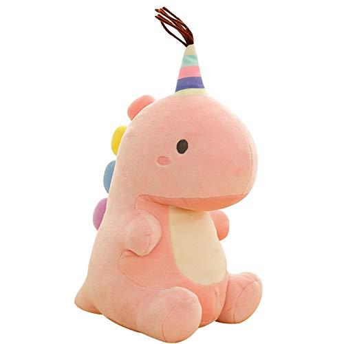 Cartoon Soft Dinosaur Plüsch Spielzeug Lendenwirbel Rücken Kissen 3D Kissen Kreatives Geschenk 23cm Kleine 23cm süße sitzende Dinosaurierpuppe, Pink