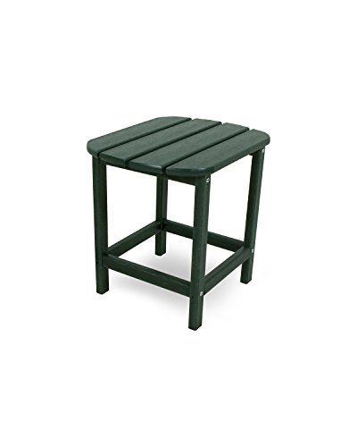 POLYWOOD SBT18GR South Beach 18' Outdoor Side Table, Green