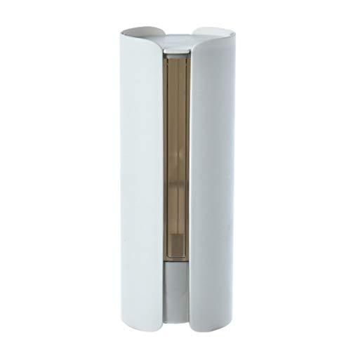 BSSTHD Holder Taza desechable dispensador de Vasos con Tapa Adecuado for el hogar, Restaurante, Bar, Uso de la Oficina de Pared sin Necesidad de taladrar Material Plástico Titular de la Taza de Papel