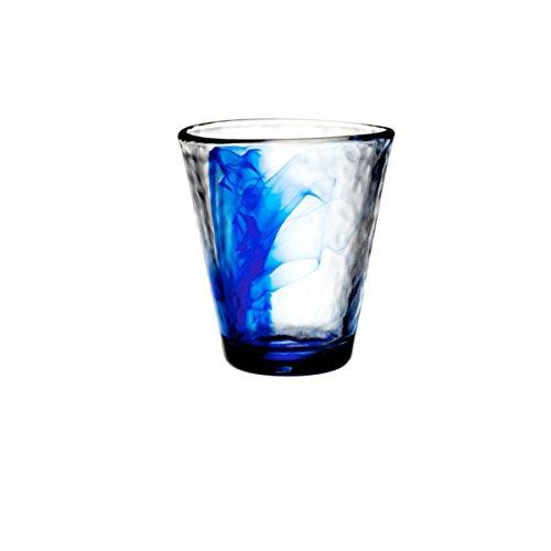 Gaggioli - Bormioli Rocco - Lot de 24 verres à eau en verre de Murano, bleu cobalt, verres à vin de 26,5 cl