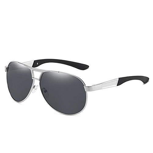 Sunglasses Nuevas Gafas De Sol De Piloto De Moda Vintage para Hombre, Gafas De Sol Polarizadas, Lentes De Revestimiento, Gafas De Conducción para Hombres, Blacksliver
