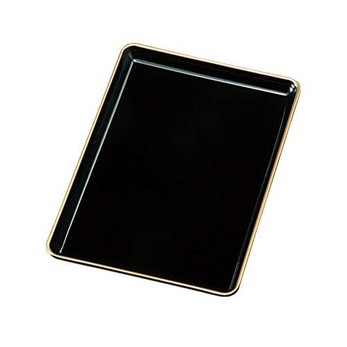 紀州塗 PC 7寸 金縁付 切手盆(名刺盆)001-065-82