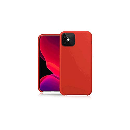 Pure Touch - Carcasa de silicona para Apple iPhone 12 Mini, color rojo