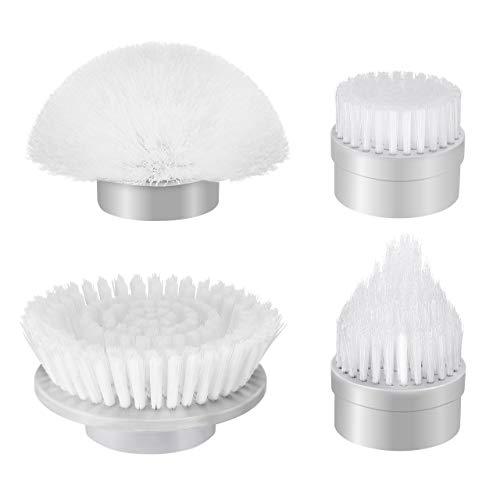 Homitt 4pcs Ersatzbürsten, Ersatz Brush Köpfe, Schnurlose Bürsten geeignet für elektrische Reinigungsbürste Spin Scrubber, für Boden, Wanne, Küche und Fliesen Scrubber Kopf Bürsten
