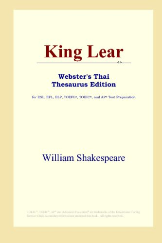 Download King Lear (Webster's Thai Thesaurus Edition) B00125HRKS