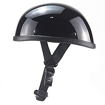 CSSM Motorcycle Helmet-DOT Approved Ultra-Thin Beanie hat-Light Black Without Peak  M
