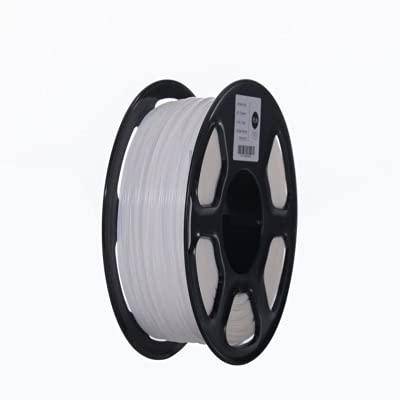 1pc ABS Filament 1.75mm 1kg 3d-Printer Plastic Abs Printing Materials 3D Printing Filament White Color For 3d Printer And 3d Pen (Color : White)