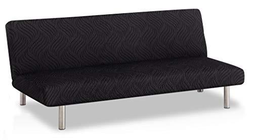 Bartali Funda de sofá Clic-clac elástica Aitana - Color Negro - Tamaño estandar (de 170 a 205)