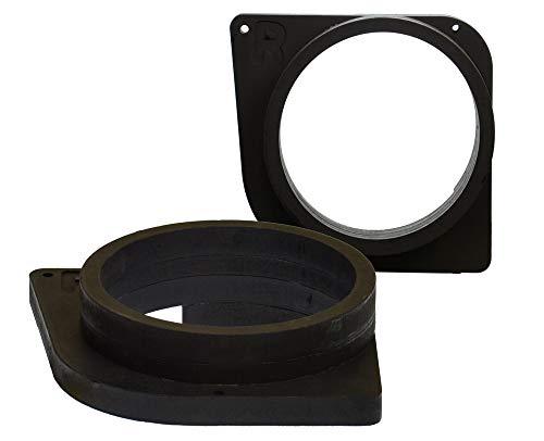 [1 Paar] 165 mm MDF Lautsprecher Ringe kompatibel mit Peugeot 307 | passend für Vordertür | Farbe: schwarz | wasserundurchlässig