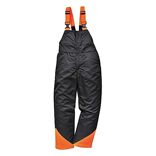 Portwest CH12BKRS - Babero y Tirantes de Roble Regular, pequeño, Color Negro y Naranja