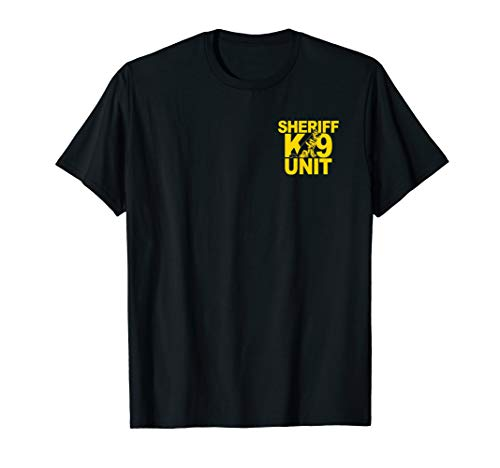 Sheriff K-9 Unit Shirt German Shepherd Front & Back Print