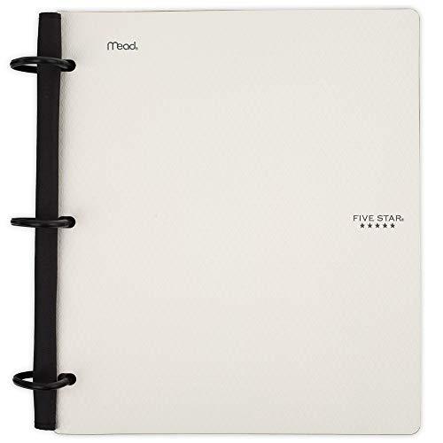 Five Star Flex Hybrid NoteBinder, 1 Inch Binder, Notebook and Binder All-in-One, White (29328AE2)