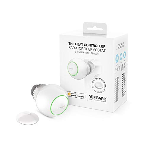 FIBARO HomeKit The Heat Controller Starter Pack / iOS Bluetooth Heizungsthermostat, Wärmeregler mit Temperaturfühler, FGT-PACK HK