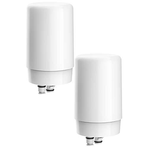 FilterLogic Faucets Filter Cartridge, Compatible with Brita Tap Water Filtration System (Pack of 2)