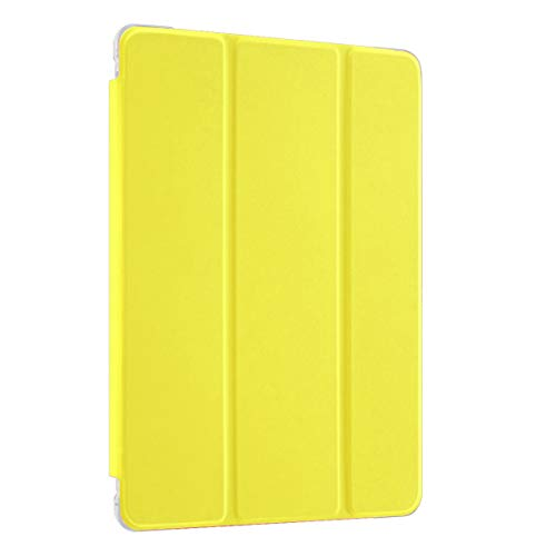 LovRug Compatible with iPad 7th Generation Case for Kids/iPad 10.2 Case with Built-in Apple Pencil Holder,Full-Body Protective Case,Soft TPU Translucent Frosted Back Smart Cover Case(Yellow)