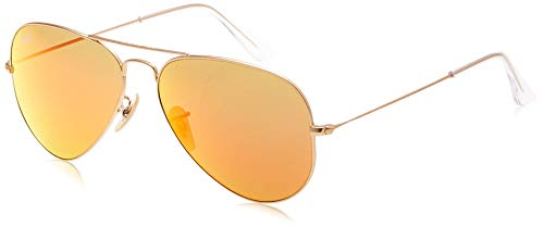 Ray Ban Unisex Sonnenbrille ORB3025JM Gr. Large (Herstellergröße: 58), Mehrfarbig (Gestell: gold/bunt ,Gläser: braun Klassisch 169), Gold (112/85), 58 mm