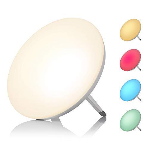 Medisana LT 500 Tageslichtlampe, Tageslichtleuchte mit Farbwechsel in 4 Farben, Lichtstärke von 10.000 Lux, Lichttherapie gegen Winterdepressionen, LED-Lichtdusche