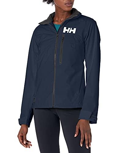 Helly Hansen W HP Racing Resistente al Vento e Traspirante Colletto in Pile Marina Sportivo Navigazione, Giacca Impermeabile Donna, S, Blu (Navy)