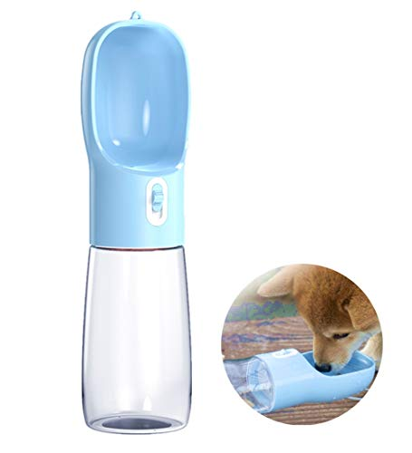 Liphier Dog Water Bottle,Portable Puppy Water Disperser, Water Bowl for Pets Travel,Outdoor Walking,Hiking,Drinking Feeder,Food Grade Plastic