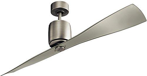 "Kichler 300160NI Ferron 60"" Ceiling Fan with Remote Control, Brushed Nickel"