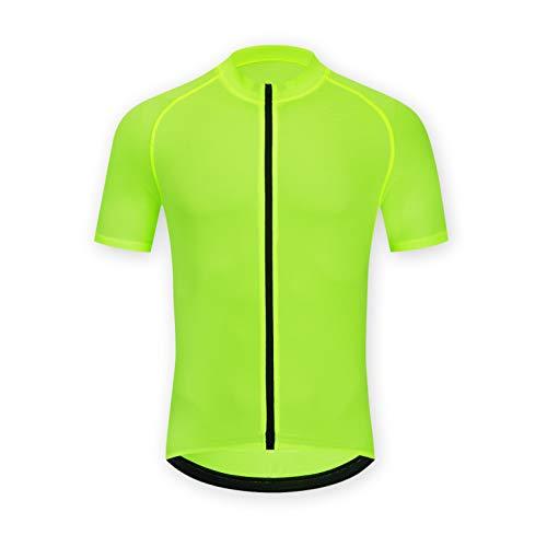 ELNOCSON Uomo Maglia da Ciclismo Manica Corta- Camicia da Mountain Bike- Asciugatura Rapida Top Abbigliamento - Traspirante
